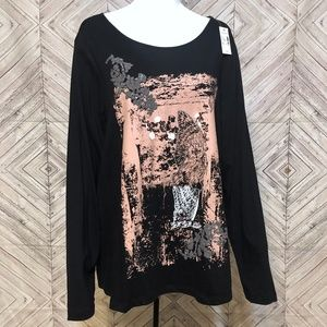 NWT Venezia 1X studded owl long sleeve top